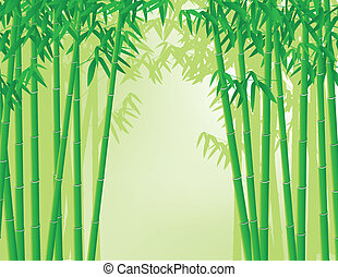 Bamboo background - Vector illustration of bamboo forest...
