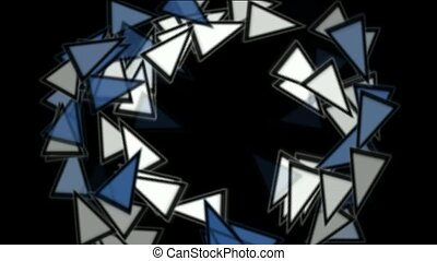 triangles card mosaics round - triangles card mosaics shaped...