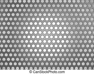 Carbon fiber surface with holes over studio light background