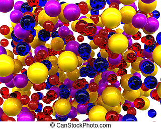 Colorful glossy orbs isolated