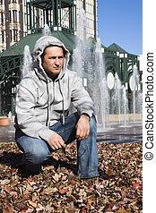 Man enjoying fall in Memphis
