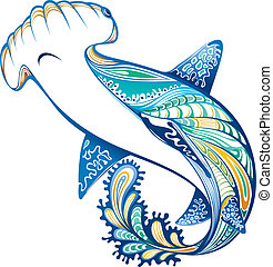Shark - Illustration of abstract shark