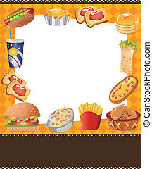 cartoon fast food card