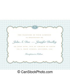 Vector Rounded Frame with Ornate Background