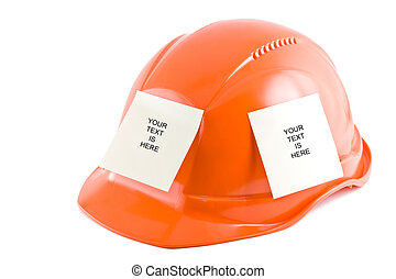 Protective helmet and note stickers