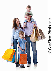 Families with bags