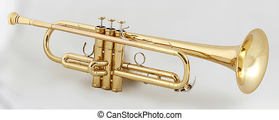 golden trumpet - gold lacquer trumpet with gold plated...
