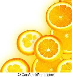 Orange Slices Border - Orange Overlapped Slices Close Border...