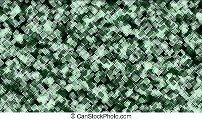 green square block mosaics wall