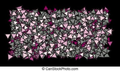 triangles block mosaics wall,game