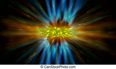 dazzling rays laser light and particles in universe,power...