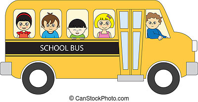 School bus - Back to school School bus full of children