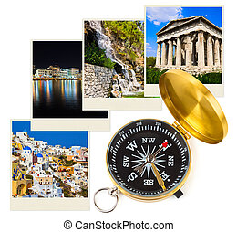Greece photography and compass