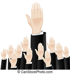 Business hand. Illustration on white background for design