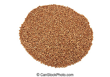 Buckwheat isolated on a white