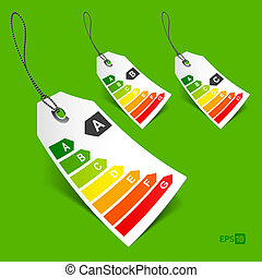 Energy classification tags - Vector illustration of energy...