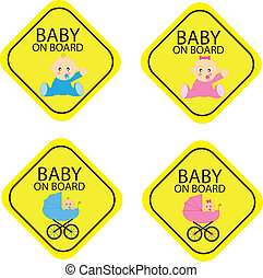 Baby on board warning signals.