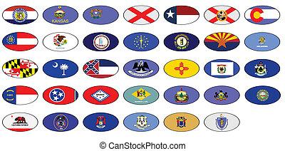 USA states flag, vector