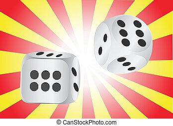 Authentic casino dice, vector illustration
