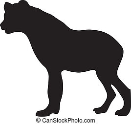 silhouette of hyena