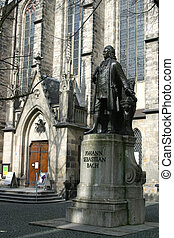 Bach Monument Leipzig Germany - the Johann Sebastian Bach...