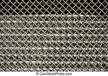 radiator grille - chromed vehicle radiator grille closeup