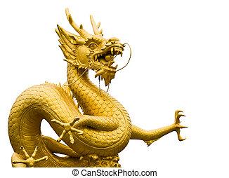 el, grande, mar, dragón, indio, Océano