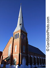 Historic Church - Tall old church in historic Leadville town...