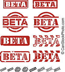 Beta Testing Stamps - A selection of different style beta...