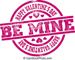 Valentine's Day Stamp - Be mine Valentine's Day rubber...