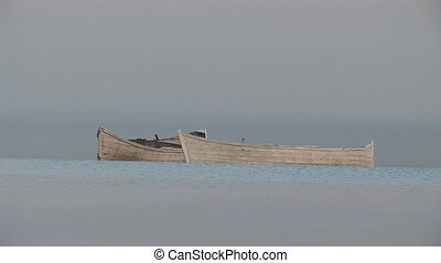 boats - two boats on the horizon