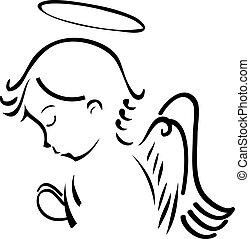 Anioł, modlący się