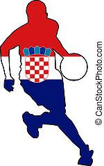 basketball colors of Croatia
