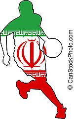 basketball colors of Iran