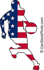 basketball colors of USA