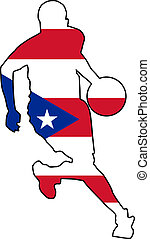 basketball colors of Puerto Rico