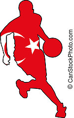 basketball colors of Turkey