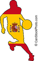 basketball colors of Spain