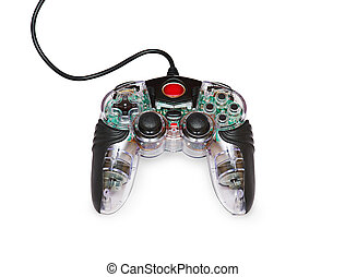 Transparent joystick for games - Transparent glass computer...