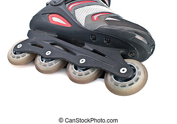 Roller skates - Close up of an inline skate, isolated on...