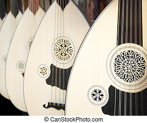 Ud, a Turkish instrument - Image of uds hung on wall. Ud is...