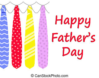 Happy Father's Day card with ties