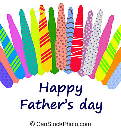 Happy Father\'s Day card with ties - Happy Father\'s Day...