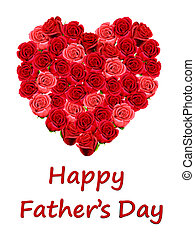 Happy Father\'s Day card with roses