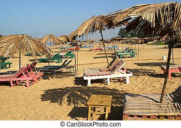 Beach Benaulim Goa India - the beach in Benaulim in the...