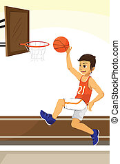 Basketball player - A vector illustration of a basketball...