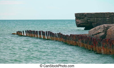 parts of an old pier