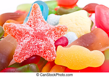 mixup background - Kids vibrant multicoloured jelly sweet...
