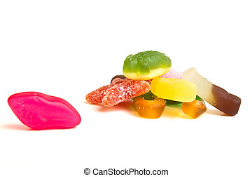 jelly mixup - Kids jelly sweet mix up from low perspective.
