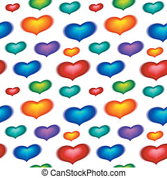 seamless wallpaper with color hearts